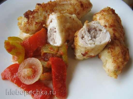 Отбивные куриные с начинкой