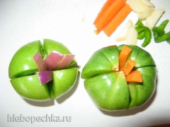 Зеленые помидоры на зиму Цветочек