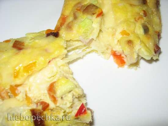 Сырный омлет-запеканка в духовке