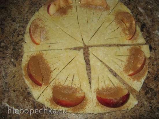 Творожные конвертики с яблоками