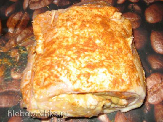 Грудинка свиная маринованная, запеченная в паприке