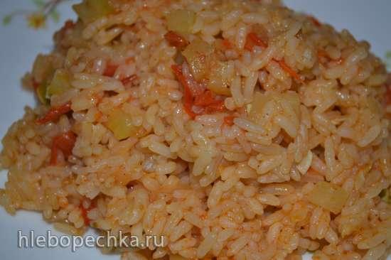 Рис «розовый» с овощами и паприкой (мультиварка-скороварка Brand 6051)
