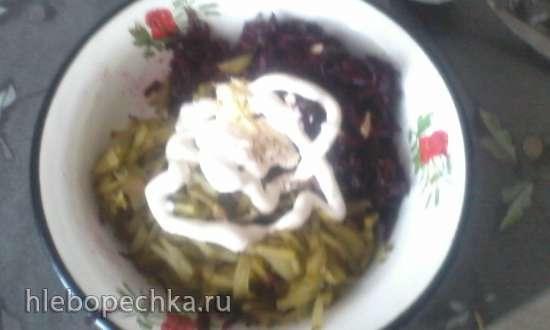 Салат слоеный с рыбой