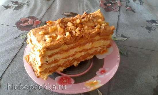 Крем масляный на манной каше с вареной сгущенкой