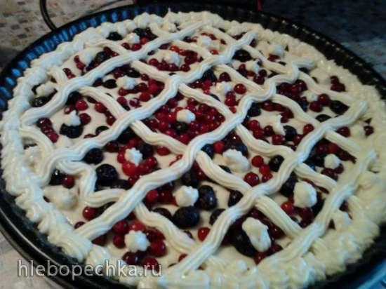 Пирог нежный с ягодами или фруктами в пиццепечке Принцесс