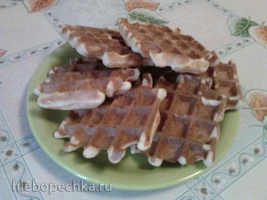 Пушистые дрожжевые вафли на завтрак. С карамелью