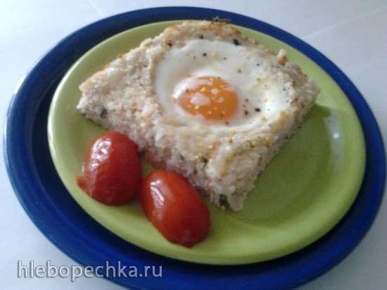 Рисово-рыбная запеканка с яйцом