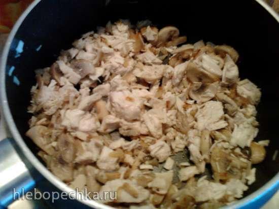 Маффины из курицы с грибами