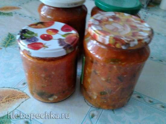 Кабачки с Краснодарским соусом