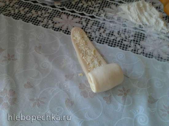 Молочные заварные булочки с шоколадом
