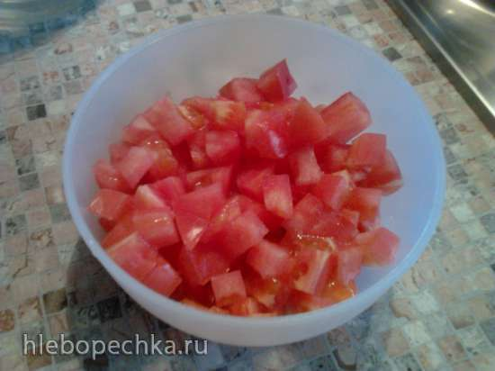 Куриное филе, запеченное с помидорами и моцареллой в аэрофритюрнице или духовке