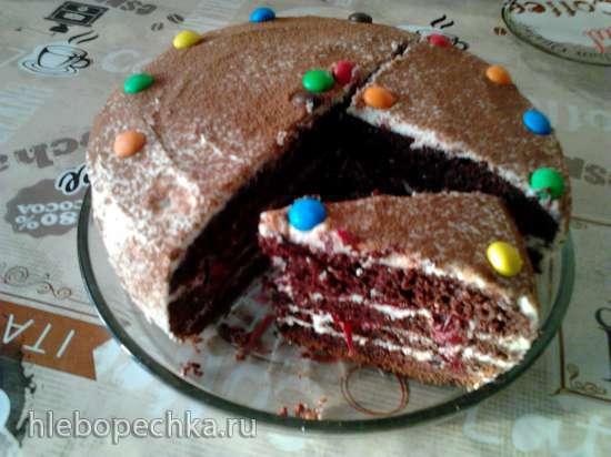 Шоколадный бисквит на раз, два, три