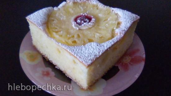 Пирог «Пышка» с фруктами на кефире