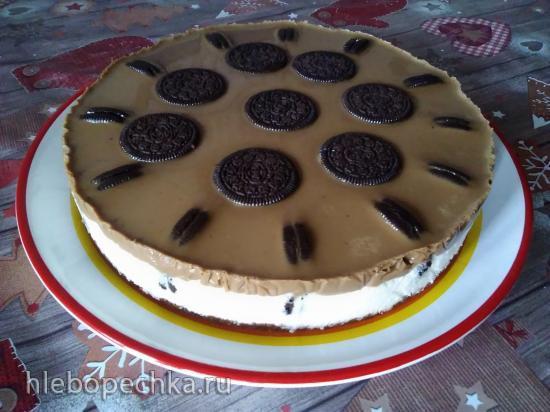 Торт без выпечки с печеньем Орео