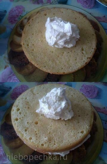 Торт «Подарочный» почти по ГОСТу (выпечка бисквита в мультиварке Бранд 6051)