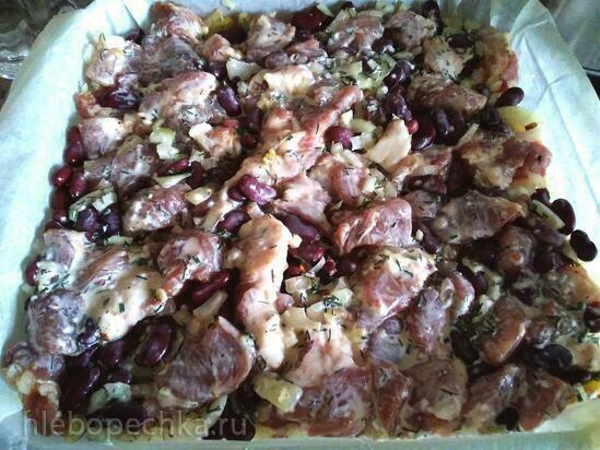 Запеканка Картошка & Мясо & Грибы и Фасоль