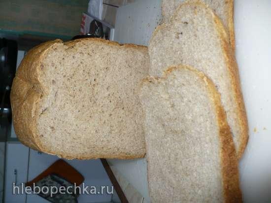 Быстрый пшенично-ржаной хлеб на ряженке
