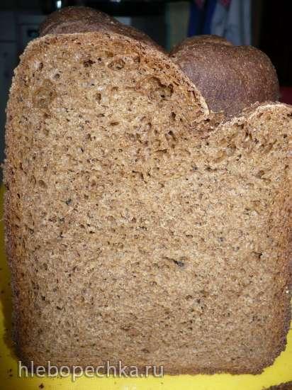 Пшенично-ржаной с цельносмолотой ржаной мукой и ржаными отрубями