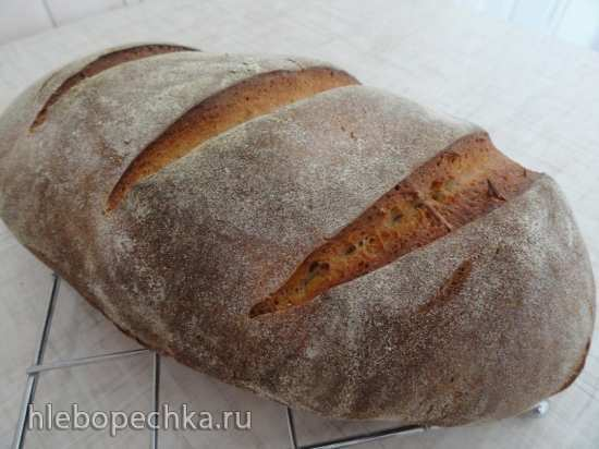 Хлеб на двух заквасках