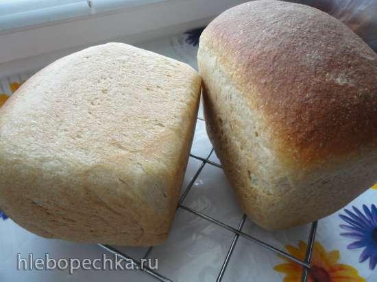 Хлеб на фруктовых дрожжах с кукурузной и ржаной мукой