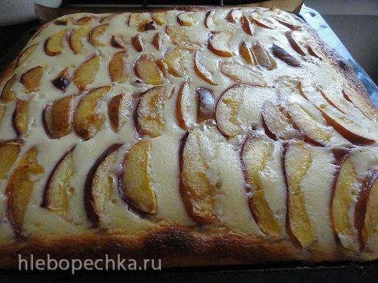 Немецкий пирог со свежими сливами