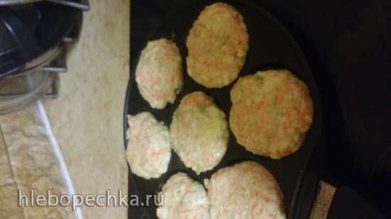 Оладьи из кабачков и моркови при помощи шнековой соковыжималки