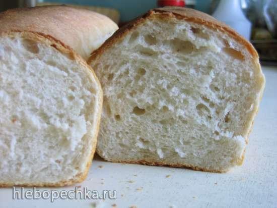 Пшеничный хлеб на двух опарах