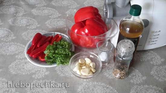 Аджика из перца сырая ферментированная