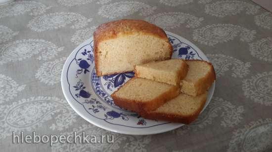 Кекс с консервированным ананасом (хлебопечка Moulinex OW 5004)