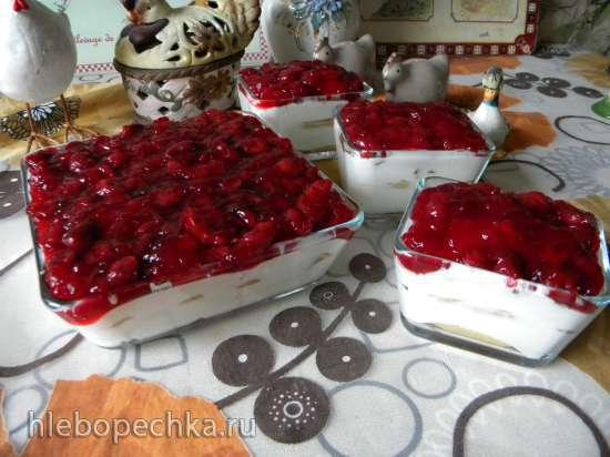 Торт-панна кота Зимняя вишня