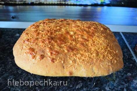 Картофельная фокачча с сыром и печеным чесноком