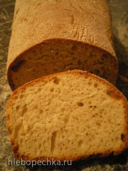 Пшеничный сдобный хлеб на закваске