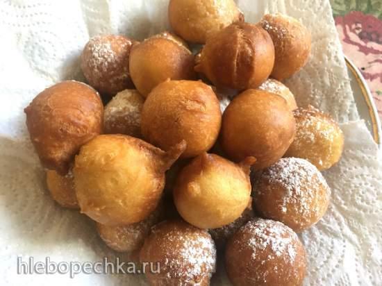 Пончики новоуренгойские (с кефиром и разрыхлителем)