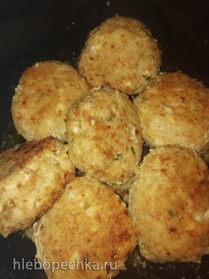 Котлеты куриные с плавленным сыром