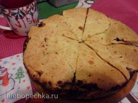 Капустный пирог на жидком тесте в скороварке Steba
