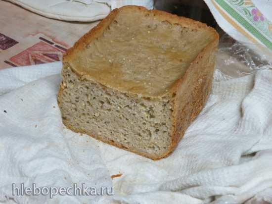 Барятинский пшенично-гречишный хлеб на закваске в хлебопечке Bork-X800