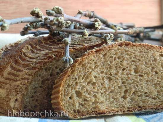 Пшеничный хлеб с живой мукой на деземе