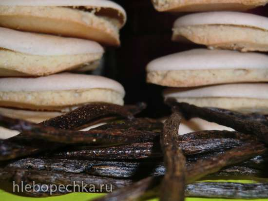 Schwaebische vanille/anisbroetle-plaetzchen (Швабские ванильные и анисовые печенья-лепешки)