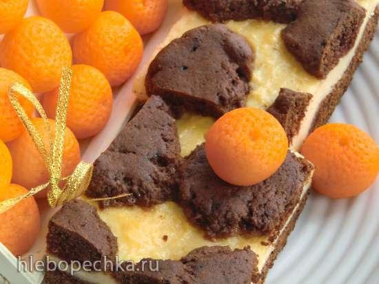 Русский рваный пирог Russischer zupfkuchen (шоколадно-лимонный)