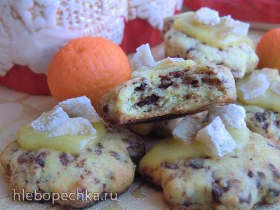 Апельсиновое печенье с шоколадом и цукатами (Оrangen schokoladen plаtzchen)