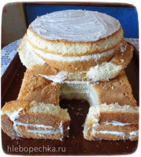 Мастер-класс по сборке 3Д торта  Мишка