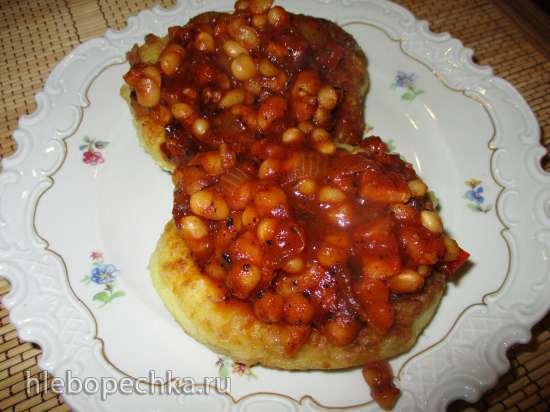 Фасоль с картофельными оладьями (по рецепту Гордона Рамзи)