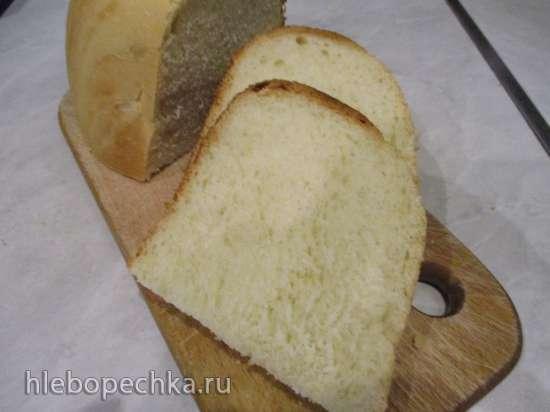 Хлеб пшеничный на сметане и сыворотке в хлебопечке