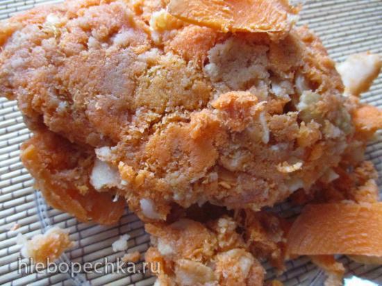 Творожная запеканка с морковно-яблочным жмыхом