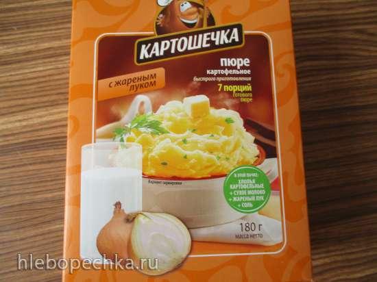 Картофельные оладьи с сыром и беконом из картофельных хлопьев