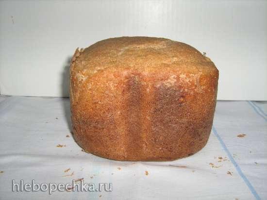 Хлеб ржаной с овсяными хлопьями (без заквасок и солода) в хлебопечке