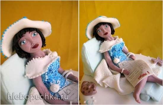 Фигурка из мастики Гламурная медсестра (мастер-класс)
