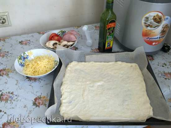 Пицца дрожжевая по рецепту к хлебопечке LG HB-205CJ