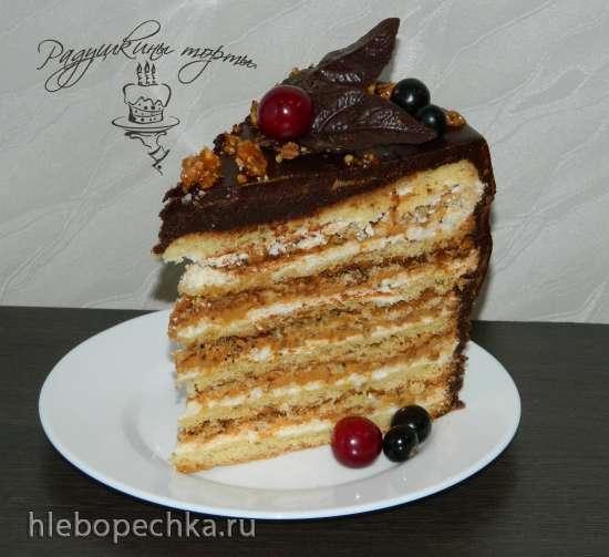 """Торт """"Воздушный сникерс"""""""