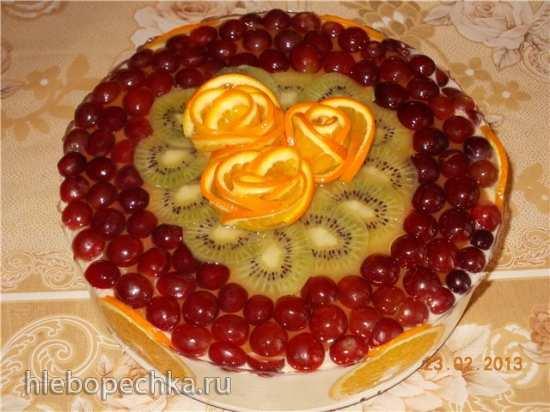 Торт творожный (без выпечки)